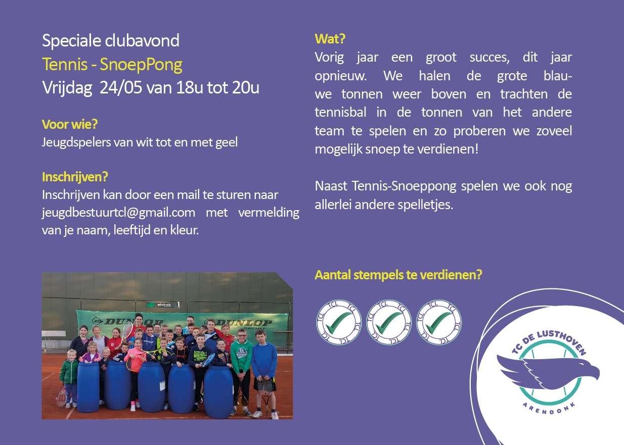 Jeugd clubavond (24 mei 2019) TC De Lusthoven